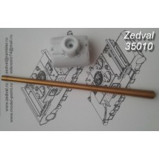 ZEDVAL_35010 85 mm S-53 barrel with an armored mask