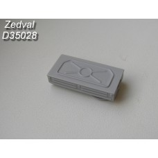 ZEDVAL_D35028 Left spare part box of T-54-2 (sample 1949), T-54 (sample 1951)