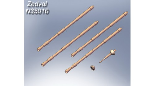 ZEDVAL_N35010 Set of parts for the ZSU 4x23 Shilka