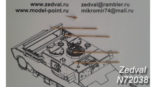 ZEDVAL_N72038 Set of parts for the ZSU 4x23 Shilka