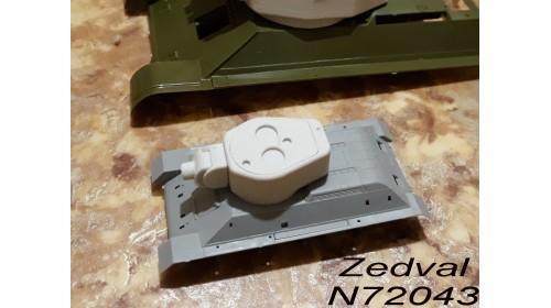 ZEDVAL_N72043 Conversion kit for model T-34/76 in model of the T-34-122
