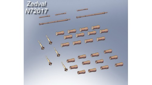 ZEDVAL_N72017 Set of parts for modern Soviet armored vehicles.